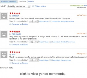 yahoo comments & reviews